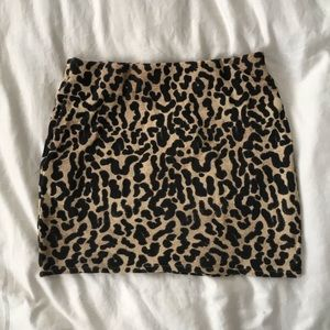 Cheetah Body Con Mini Skirt